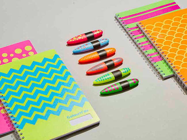Designidentity_flat_lay_styled_stationary_notepads_highlighter